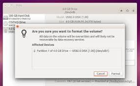 format as fat32 ubuntu format usb pen drive on ubuntu in gui method