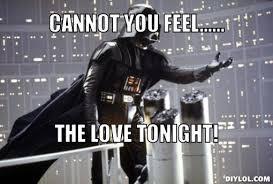 Star Wars Disney Meme - disney star wars meme generator cannot you feel the love tonight