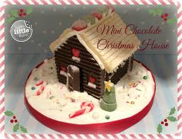 Christmas Cake Decorations At Lakeland by How To Make A Mini Chocolate Christmas House Youtube