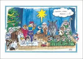 alisons animals themed card nativity