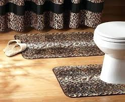 Area Rug And Runner Set Zebra Print Bath Mats Animal Print Bathroom Rug Sets Cheetah Print