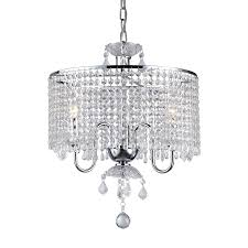 Crystal Drum Shade Chandelier Shop Warehouse Of Tiffany 17 In 3 Light Chrome Crystal Crystal