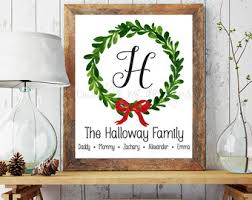 christmas signs personalized christmas signs etsy
