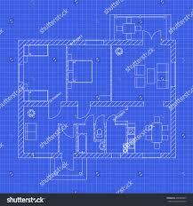 blueprint floor plan modern apartment on stock vector 436585855