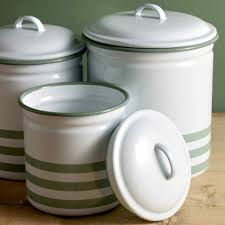 hempton enamelware three piece canister set enamelware eat drink hempton enamelware three piece canister set
