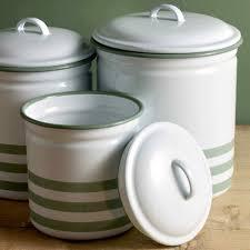 hempton enamelware three piece canister set soho home