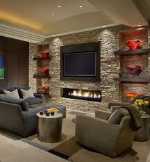 stone wall fireplace 25 incredible stone fireplace ideas contemporary tvs and basements