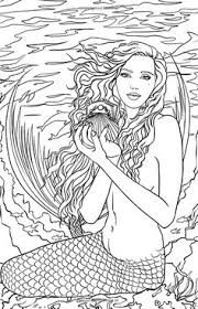 fairy mermaid coloring pages artist selina fenech fantasy myth mythical mystical legend elf