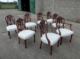 Antique Mahogany Dining Room Set by Antique Mahogany Dining Chairs Set Eight 8 Georgian Hepplewhite