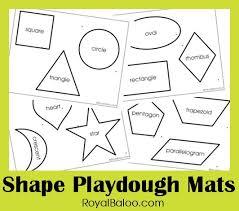 free printable shape playdough mats shape play dough printables
