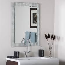 frameless bathroom disco wall mirror hall designer ebay