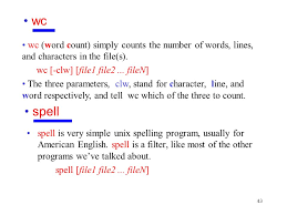 Count No Of Words In Unix Chapter 3 Introduction To Unix Fundamental Commands Ppt