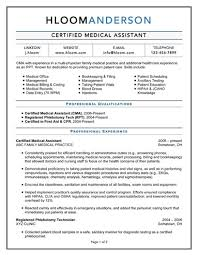 professional medical resume resume for medical assistant resume