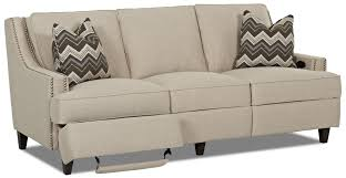 Reclining Sofa Manufacturers Transitional Power Hybrid Sofa Manufacturer Klaussner Width Side