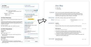 Linkedin Resume Creator Resume Builder From Linkedin Resume Builder Comparison Resume