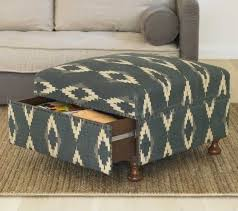 innovative ottomans with storage linen storage ottoman button