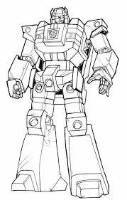 Coloriage Transformers Bumblebee dessin gratuit à imprimer