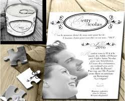 idã e faire part mariage part mariage original conserve puzzle photo