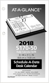 Desk Daily Calendar Financial Daily Desk Calendar Refill S170 At A Glance