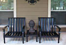 Refinishing Patio Furniture by Curb Alert Outdoor Wood Patio Chairs Refinishing Project
