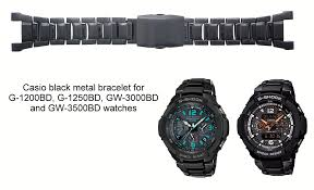 black strap bracelet images Casio g 1250bd gw 3500bd g 1200bd gw 3000bd black metal watch jpg