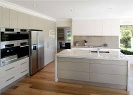 interior cool scandinavian kitchen decor with white modern floor