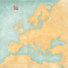 The Map Of Europe by Iceland Icelandic Flag On The Map Of Europe The Map Is In