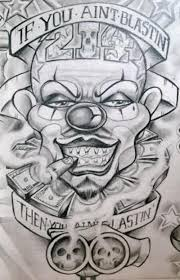 smoking joker mask tattoo design in 2017 real photo pictures