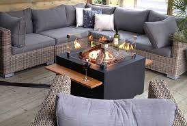 gas fire pit table uk happy cocooning square gas fire pit