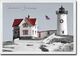 nubble lighthouse card