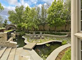 Flagstone Walkway Design Ideas by Exterior Design Warming Your Outdoor Home With Outdoor Pond Ideas