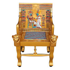 throne chair rental design toscano king tutankhamen s throne arm