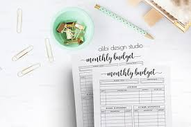 monthly budget happy planner budget planner mambi happy planner