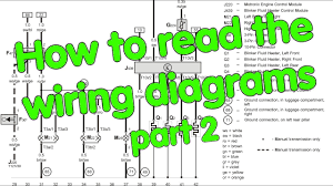 how to read wiring diagrams part 2 of 2 youtube