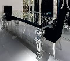 black glass kitchen table insanely gorgeous dining room black glass carved silver leaf