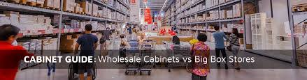 which big box store has the best cabinets wholesale cabinets vs big box store a buying guide