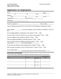 printable job application for ups fillable online application for employment the ups store 6416 fax
