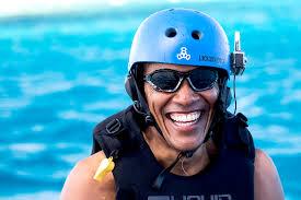 barack and michelle obama tahiti vacation pics snorkeling
