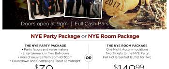 new years party package the inn event center winston salem hotel and event center