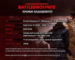 pubg pc requirements specs gameplay discussion feedback playerunknown s