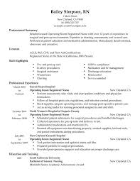 Sample Summary Of Resume by Unforgettable Operating Room Registered Nurse Resume Examples To