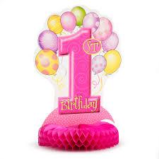 1st birthday my 1st birthday pink centerpiece