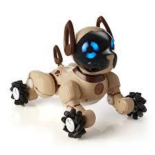 amazon com wowwee chocolate chip robot toy dog amazon exclusive