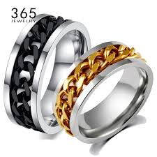 mens spinner rings aliexpress buy never fade jewelry stainless steel mens