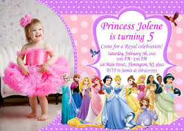 template exquisite disney princess birthday invitations
