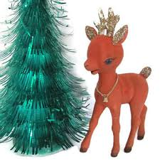 Green Reindeer Christmas Decorations by Shop Vintage Reindeer Christmas Decorations On Wanelo