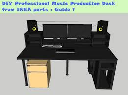 Build A Studio Desk Plans by Guide Diy Music Production Desk From Ikea Parts Build 1 Youtube