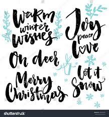 merry type seasonal greetings warm stock vector