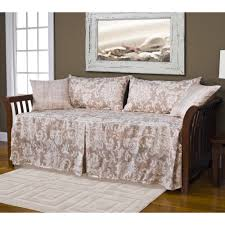White Wood Daybed With Trundle Bedroom Furniture Dark Brown Glaze Wooden Trundle Daybed With
