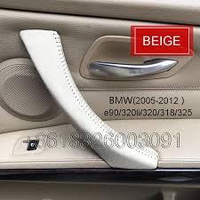 Minivan Interior Accessories Bmw Series 3 E90 Raw Leather Car Inner Door Handle Cover Car